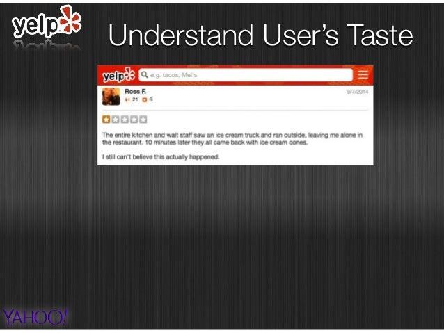 Understand User's Taste