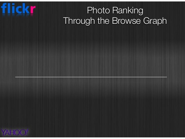centrality based approaches Photo Ranking  Through the Browse Graph