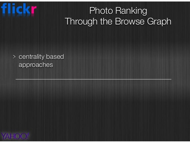 centrality based approaches Photo Ranking  Through the Browse Graph PageRank BrowseRank