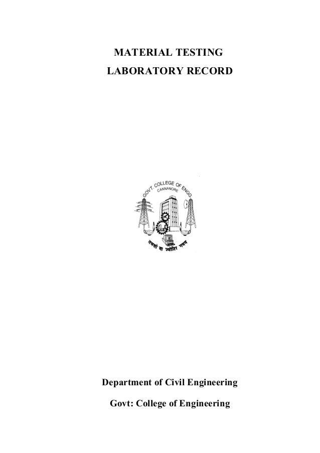 mt lab manual 1 rh slideshare net Civil Engineering Technician Civil Engineering Lab Logo