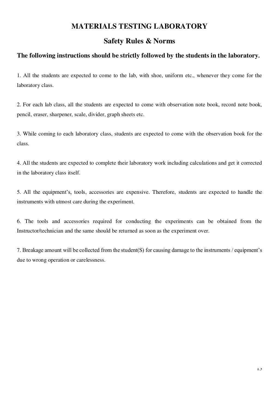 Material Testing Lab Manual page 14