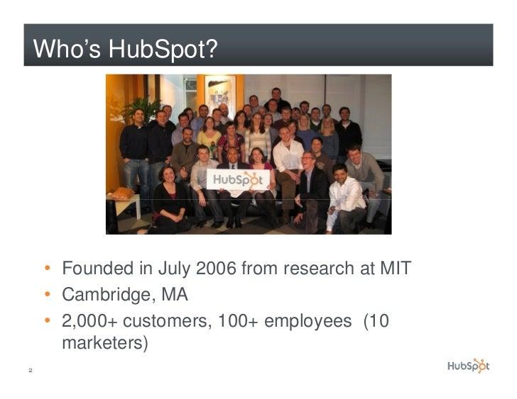 How HubSpot Uses Facebook and LinkedIn Slide 2