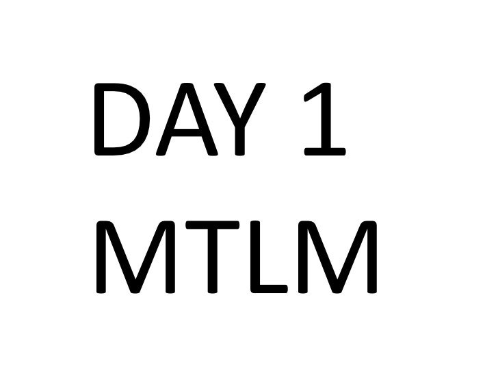 DAY 1MTLM