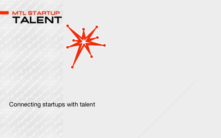 Connecting startups with talent