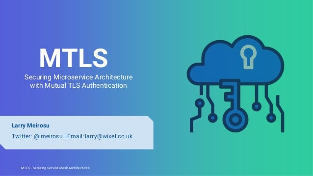 MTLS - Securing Service Mesh ArchitecturesMTLS - Securing Service Mesh Architectures MTLSSecuring Microservice Architectur...