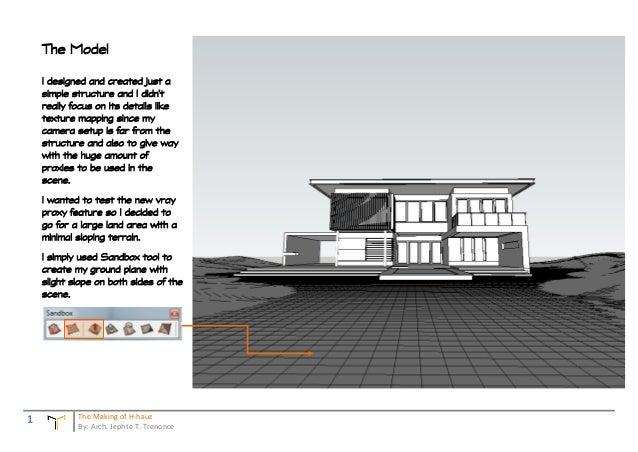 Mini The Making of H hauz _VRAY 1.6 beta rendering challenge winner Slide 2