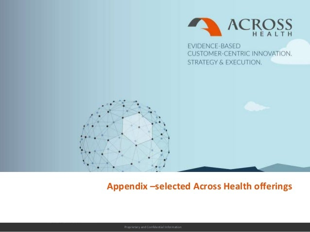 Proprietary and Confidential Information Appendix –selected Across Health offerings