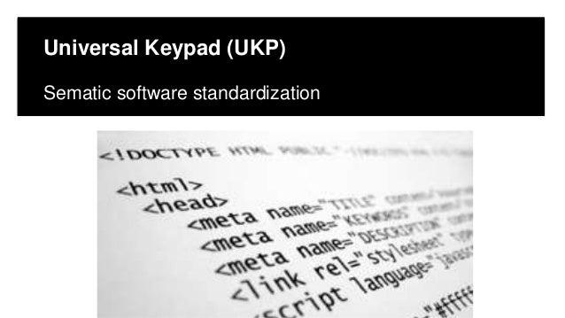 Click to edit Master title style Click to edit Master subtitle style Edit Master text styles Universal Keypad (UKP) Semati...
