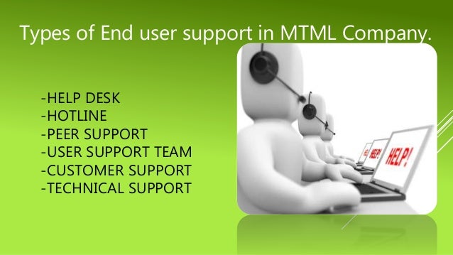 end user support presentation