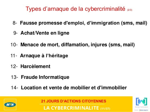 Mtn 21 ycd cybercriminalite by tlmc for Arnaque achat maison
