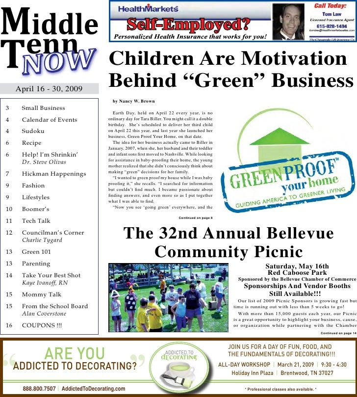 "Children Are Motivation      April 16 - 30, 2009                                      Behind ""Green"" Business             ..."