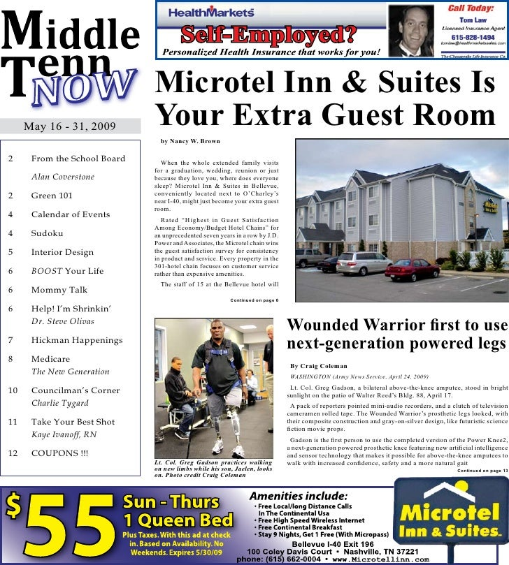 Microtel Inn & Suites Is      May 16 - 31, 2009        Your Extra Guest Room                                 by Nancy W. B...