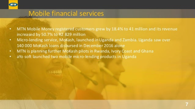 MTN Annual Results for the period ended 31 December 2016