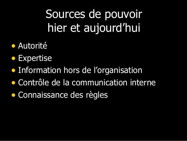 Conclusion  pouvoir et autorité  dans une société en  réseaux => vers de  nouvelles performance