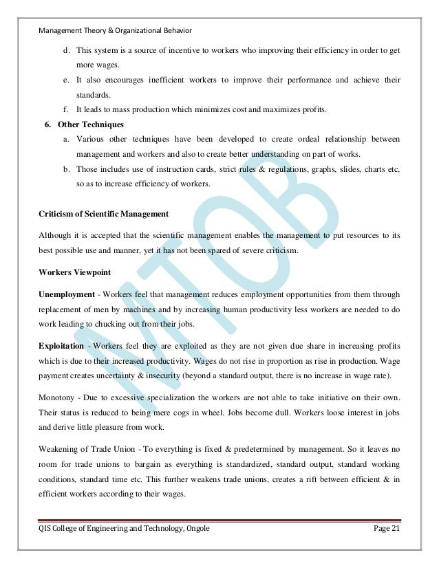 Introduction of management theory and organisational behaviour ongole page 20 21 spiritdancerdesigns Images