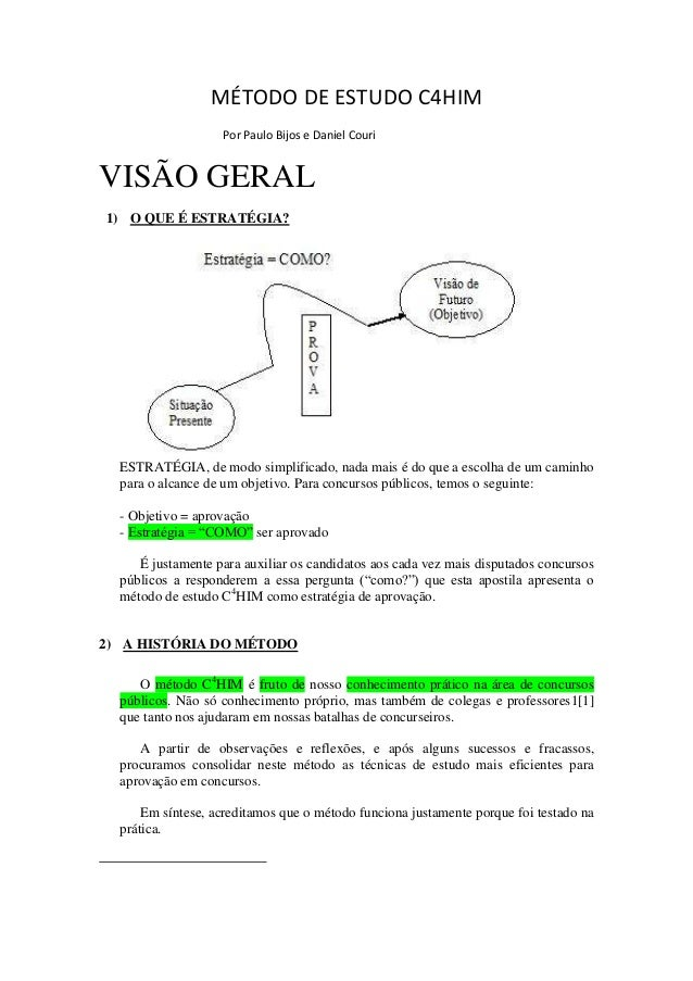 Método De Estudo C4 Him By Paulo Bijos E Daniel Couri