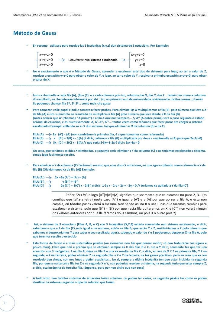 Matemáticas (1º e 2º de Bacharelato LOE - Galicia)                                                    Alumnado 2º Bach // ...