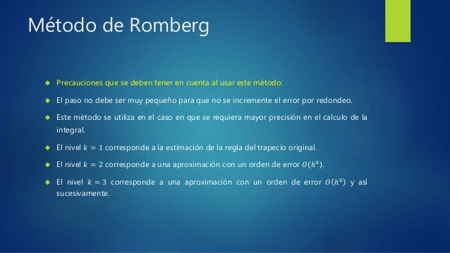 romberg integration