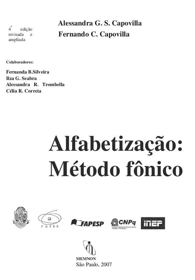 a                    Alessandra G. S. Capovilla 4      edição revisada e         Fernando C. Capovilla ampliadaColaborador...