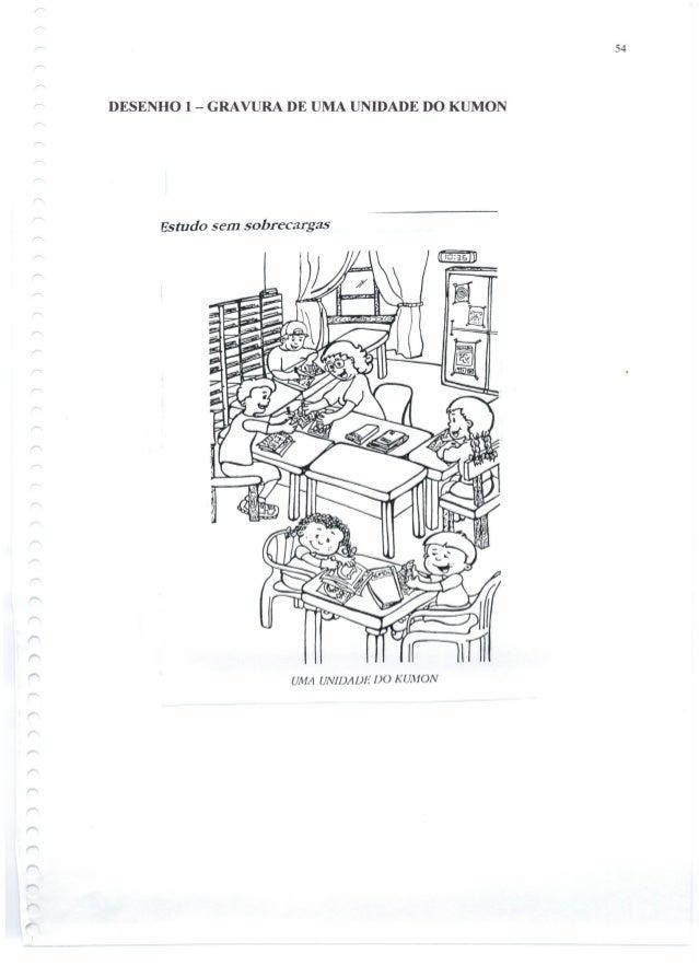 DESENHO 1 - GRAVURA DE UMA UNIDADE DO KUMON Estudo sem sobrecargas UMA UNIDADE DO KUMON 54
