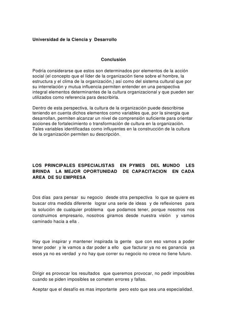 MéTodo Para Determinar La Cultura De Las Organizaciones En Colombia