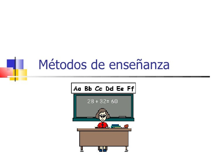 Métodos de enseñanza