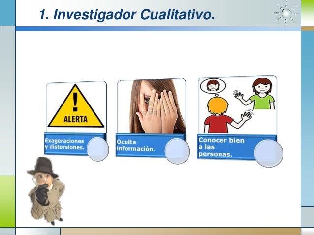 1. Investigador Cualitativo.