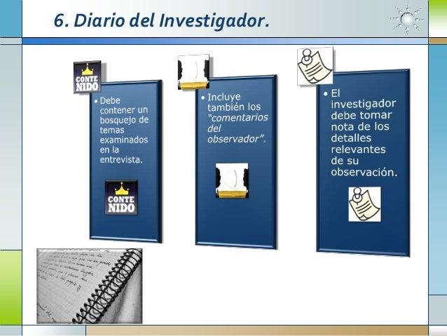6. Diario del Investigador.