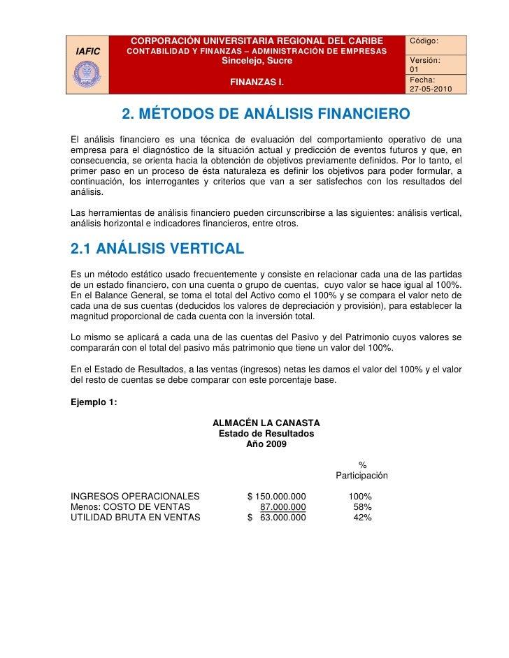 CORPORACIÓN UNIVERSITARIA REGIONAL DEL CARIBE                             Código:  IAFIC        CONTABILIDAD Y FINANZAS – ...