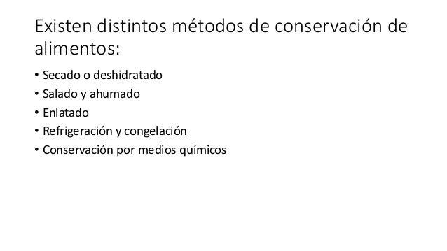 Métodos De Conservación De Alimentos 3