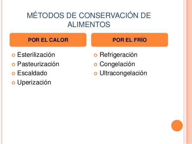 Métodos De Conservción De Los Alimentos 3