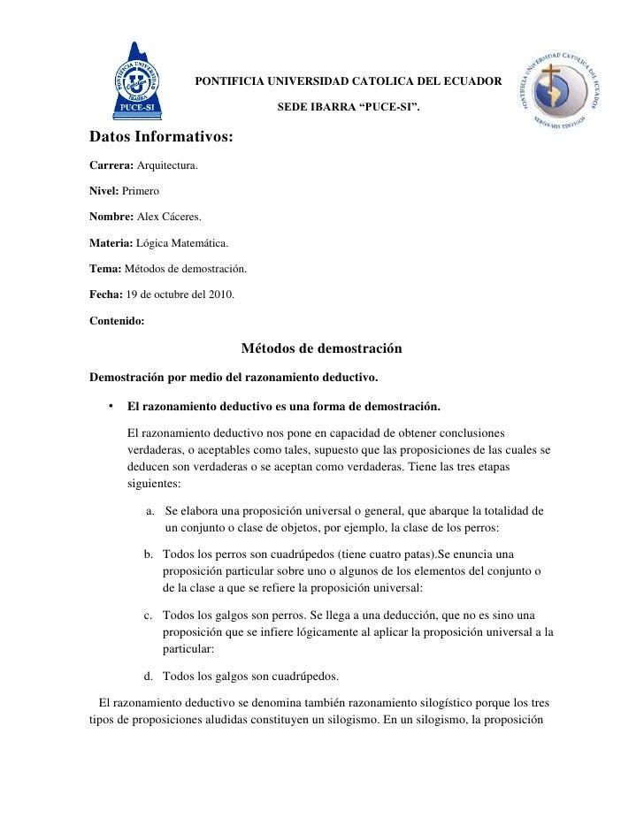 """PONTIFICIA UNIVERSIDAD CATOLICA DEL ECUADOR<br />SEDE IBARRA """"PUCE-SI"""".<br />Datos Informativos: <br />Carrera: Arquitectu..."""