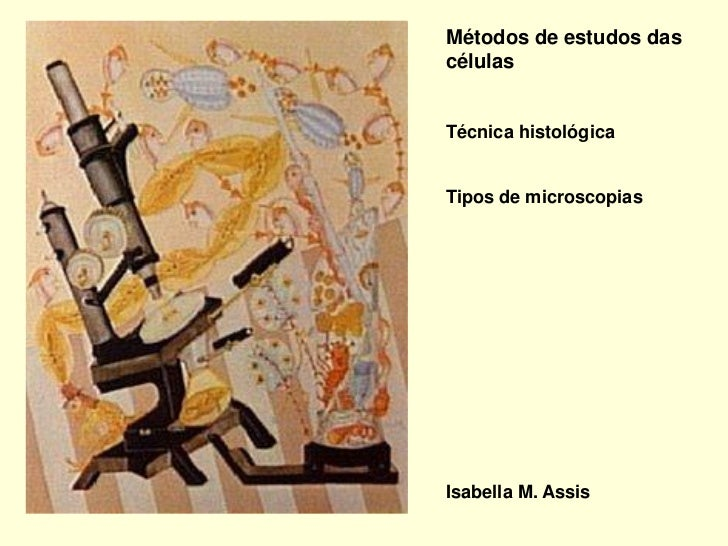 Métodos de estudos dascélulasTécnica histológicaTipos de microscopiasIsabella M. Assis