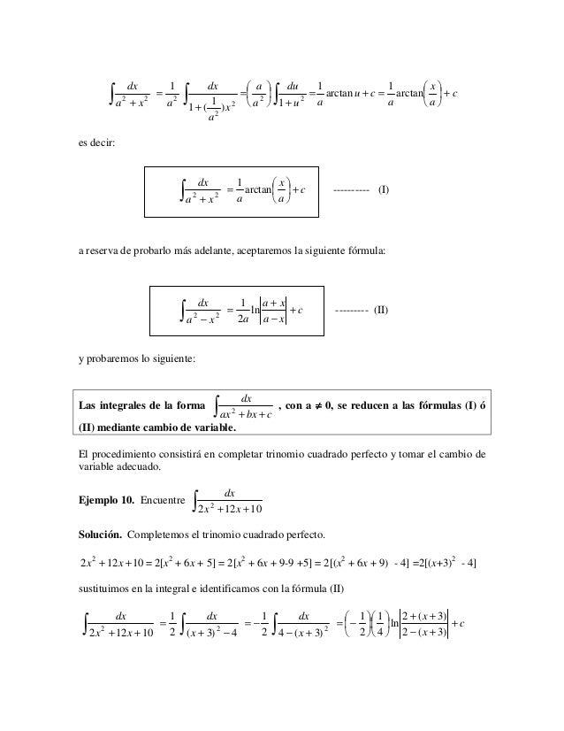  a  du                             x        ∫a                  ∫ 1 + ( 1 )x               ∫                 dx     1 ...