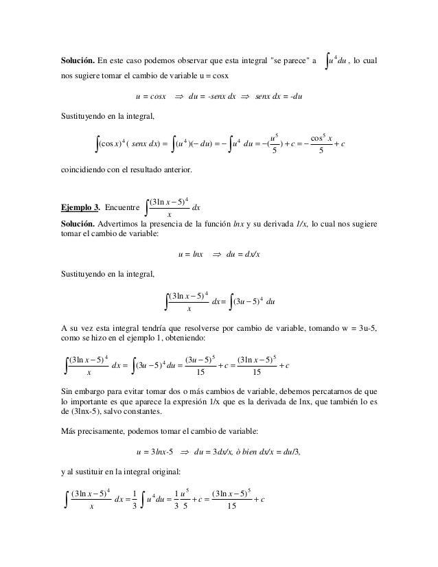 ∫ u du , lo cual                                                                                 4Solución. En este caso p...