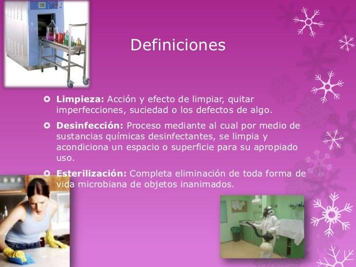 M todos de limpieza desinfecci n y esterilizaci n utilizados for Procesos quimicos en la cocina
