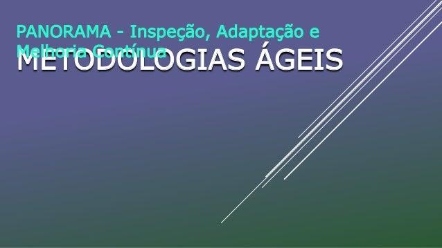 METODOLOGIAS ÁGEIS PANORAMA - Inspeção, Adaptação e Melhoria Contínua