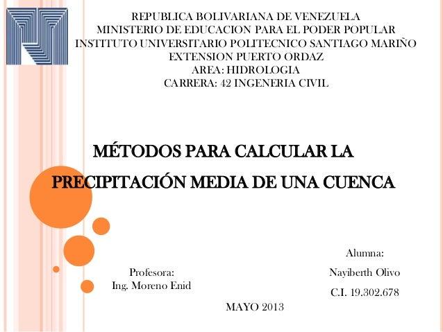 REPUBLICA BOLIVARIANA DE VENEZUELAMINISTERIO DE EDUCACION PARA EL PODER POPULARINSTITUTO UNIVERSITARIO POLITECNICO SANTIAG...