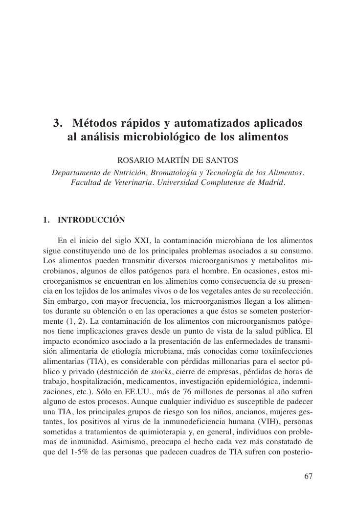 3. Métodos rápidos y automatizados aplicados     al análisis microbiológico de los alimentos                   ROSARIO MAR...