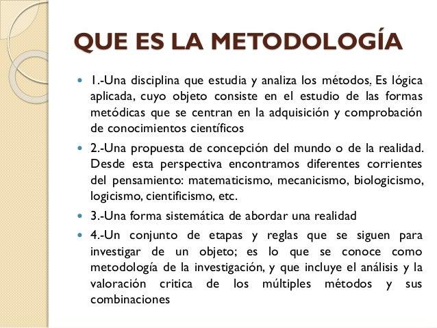 M todo vs metodologia presentaci n for En que consiste el metodo cientifico