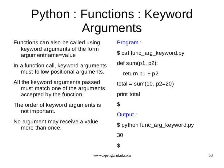 Keyword argument repeated