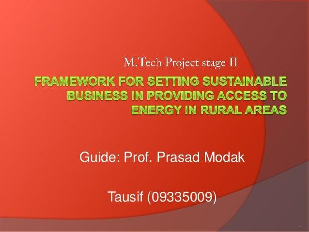 Guide: Prof. Prasad Modak    Tausif (09335009)                            1