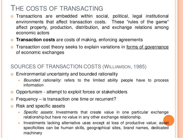 Mtp agency and transaction cost theory
