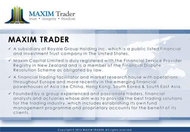 Maxim Trader :: The Best Forex Strategies 2014  Slide 3