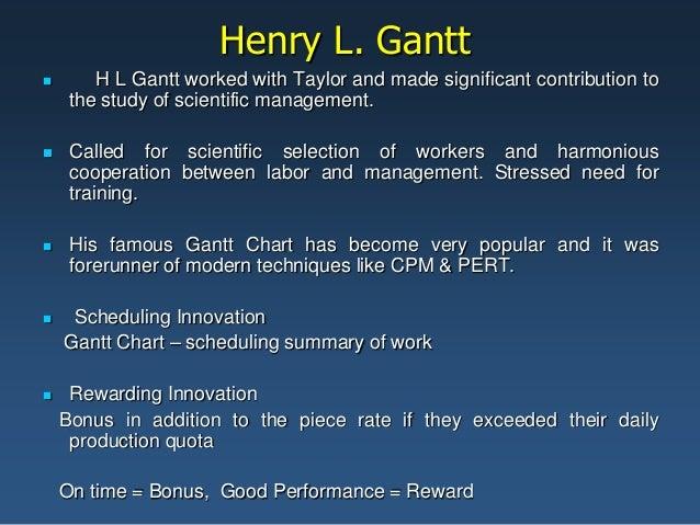 henry gantt management theory