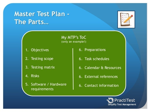 How to write a Test Plan