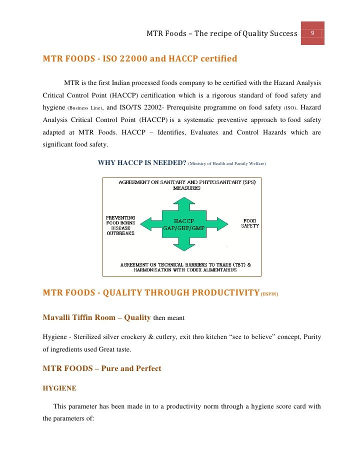 MTR - Quality as Competitive Advantage