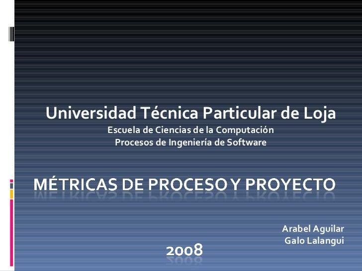Universidad Técnica Particular de Loja Escuela de Ciencias de la Computación Procesos de Ingeniería de Software Arabel Agu...
