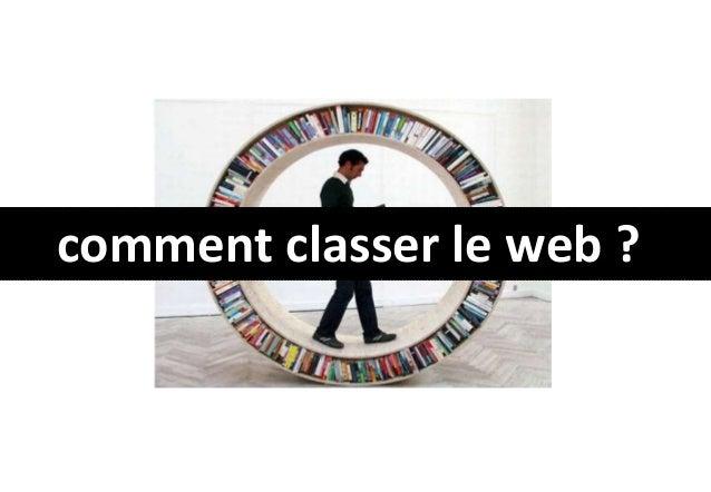 comment classer le web ?