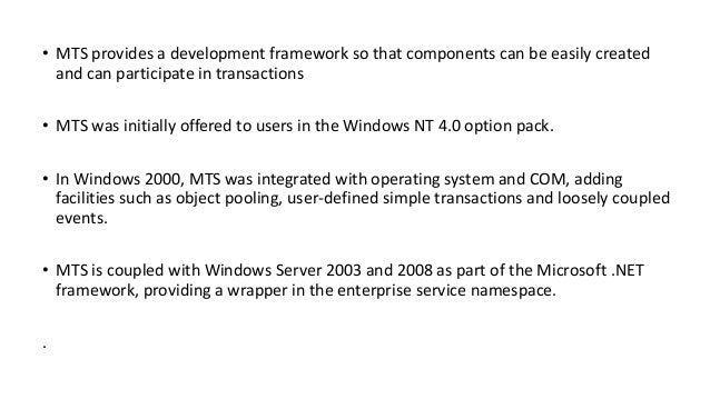 microsoft transaction server